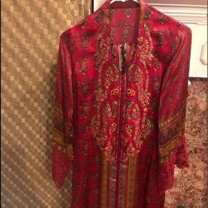 Dresses & Skirts - Beautiful embroided silk suit